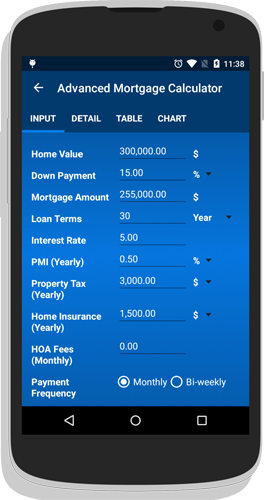 mortgage calculator app for android